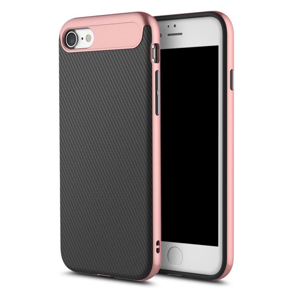 Купить со скидкой Чехол-накладка Rock Vision Series для Apple iPhone 7/8 силикон-пластик (Rose Gold)