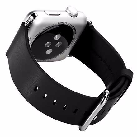 Ремешок кожаный Rock Genuine Leather Watchband для Apple Watch Series 1/2 38mm Black