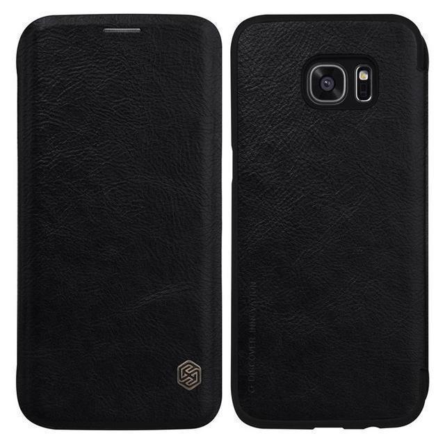 Чехол-книжка Nillkin QIN Leather Case для Samsung Galaxy S7 Edge (SM-G935) натуральная кожа черныйдля Samsung<br>Чехол-книжка Nillkin QIN Leather Case для Samsung Galaxy S7 Edge (SM-G935) натуральная кожа черный<br>