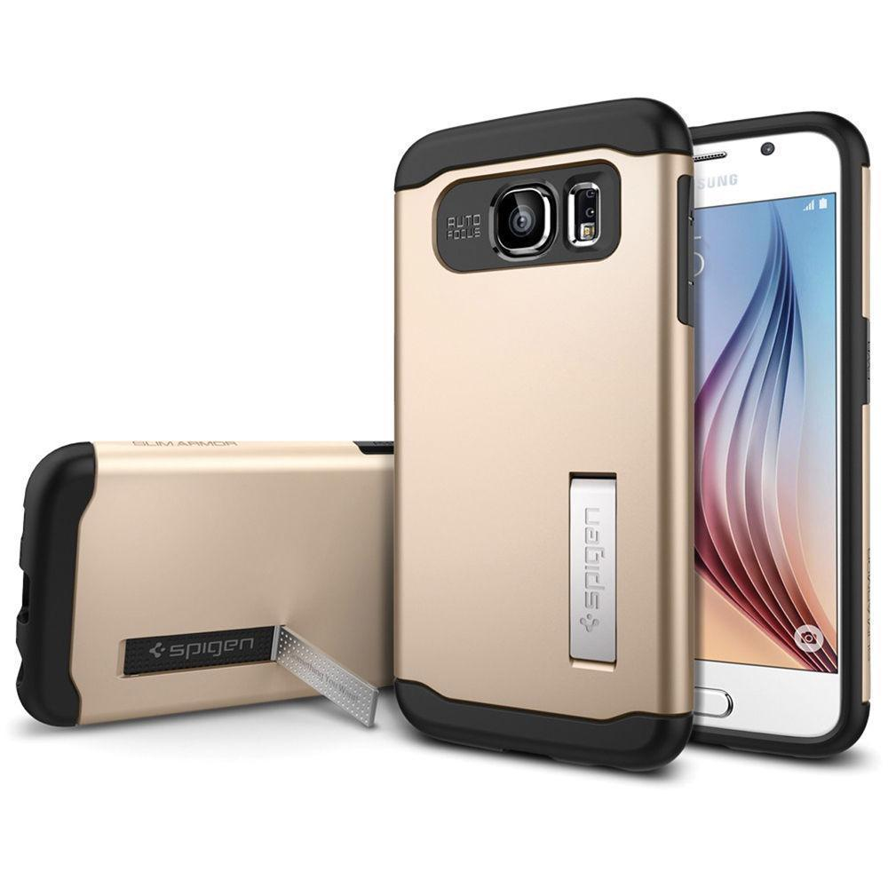 Чехол-накладка Spigen SGP11329 Slim Armor для Samsung Galaxy S6 Champagne Goldдля Samsung<br>Чехол-накладка Spigen SGP11329 Slim Armor для Samsung Galaxy S6 Champagne Gold<br>