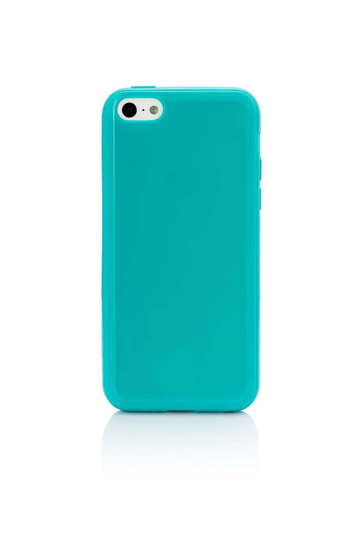 Чехол-накладка для Apple iPhone 5C силиконовый (бирюзовый)