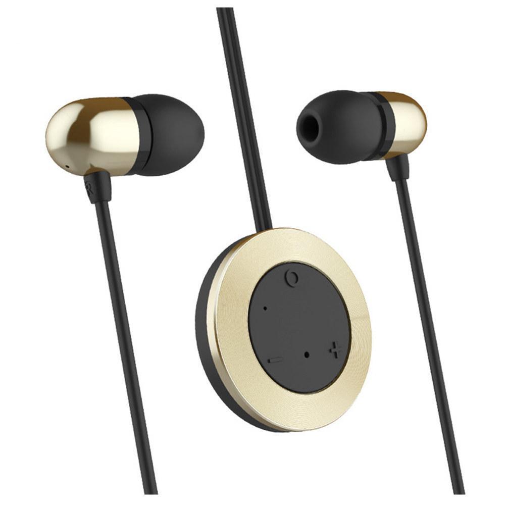 Беспроводные Bluetooth cтерео-наушники Rock Muo Earphone (RAU0518) gold