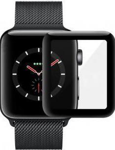 Защитное стекло Devia Tempered Glass (3D) для Apple Watch 4 40mm (черная рамка)