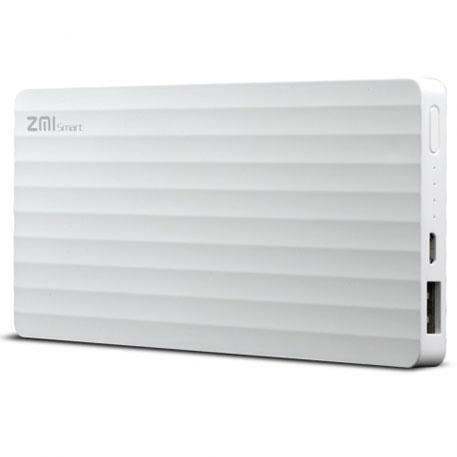 Универсальный внешний аккумулятор Xiaomi Mi Power Bank ZMI 10000 mAh, 2.1 А, USBx1 пластик WhiteУниверсальные внешние аккумуляторы<br>Универсальный внешний аккумулятор Xiaomi Mi Power Bank ZMI 10000 mAh, 2.1 А, USBx1 пластик White<br>