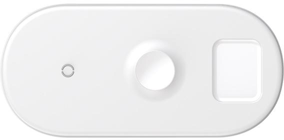 Беспроводное зарядное устройство Baseus 3 в1 Wireless Charger (WX3IN1-02) (белый)