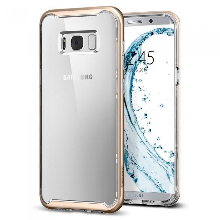 Чехол-накладка Spigen Neo Hybrid Crystal для Samsung Galaxy S8+ золотой (SGP 571CS21655)для Samsung<br>Чехол-накладка Spigen Neo Hybrid Crystal для Samsung Galaxy S8+ золотой (SGP 571CS21655)<br>