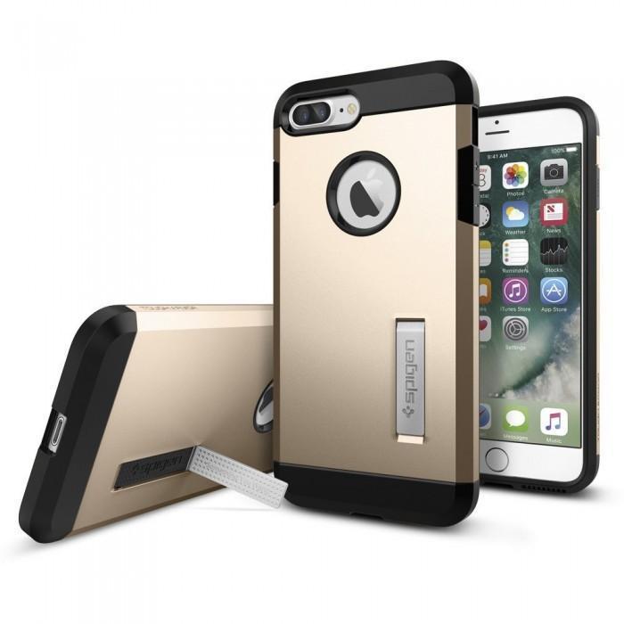 Чехол-накладка Spigen Tough Armor для Apple iPhone 7 Plus/8 Plus Champagne Gold (SGP 043CS20530)для iPhone 7 Plus/8 Plus<br>Чехол-накладка Spigen Tough Armor для Apple iPhone 7 Plus/8 Plus Champagne Gold (SGP 043CS20530)<br>
