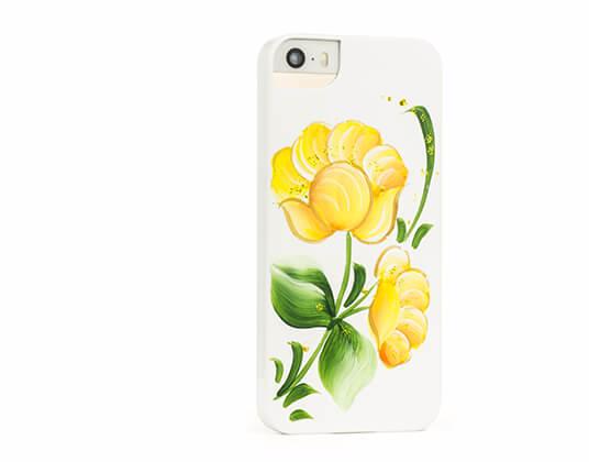 Чехол-накладка iCover Flowers (IP5-HP/W-SG04) для Apple iPhone SE/5S/5для iPhone 5/5S/SE<br>Чехол-накладка iCover Flowers (IP5-HP/W-SG04) для Apple iPhone SE/5S/5<br>