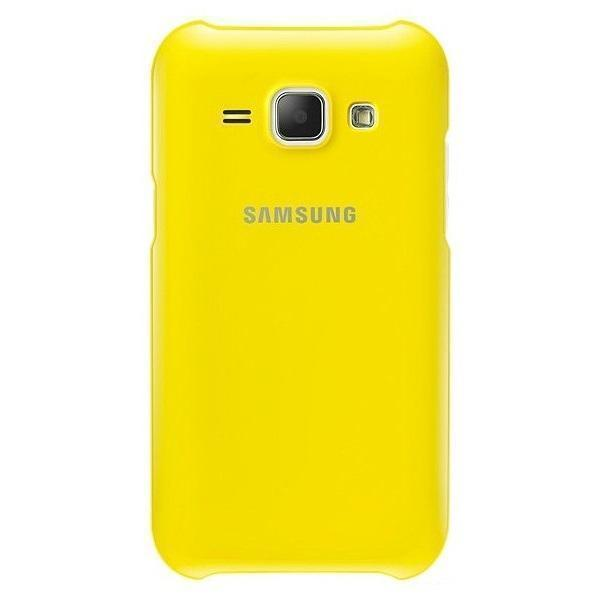 Чехол-накладка Samsung Protective Cover для Galaxy J1 (SM-J100/SM-J110) жёлтый (EF-PJ100BYEGRU)для Samsung<br>Чехол-накладка Samsung Protective Cover для Galaxy J1 (SM-J100/SM-J110) жёлтый (EF-PJ100BYEGRU)<br>
