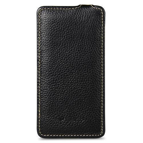 Чехол-книжка Leather Pocket для BlackBerry Z10 натуральная кожа (черный)