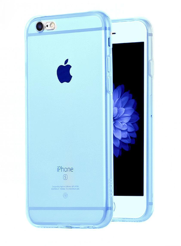 Чехол-накладка Hoco Light Series для Apple iPhone 6/6S силиконовый прозрачно-голубой