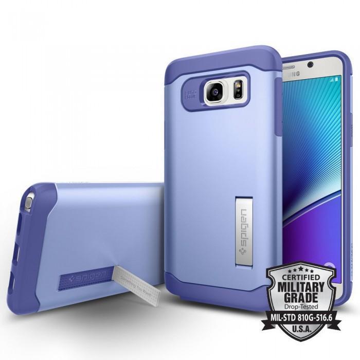Чехол-накладка Spigen Slim Armor SGP11688 для Samsung Galaxy Note 5 резина, пластик (фиолетовый)для Samsung<br>Чехол-накладка Spigen Slim Armor SGP11688 для Samsung Galaxy Note 5 резина, пластик (фиолетовый)<br>