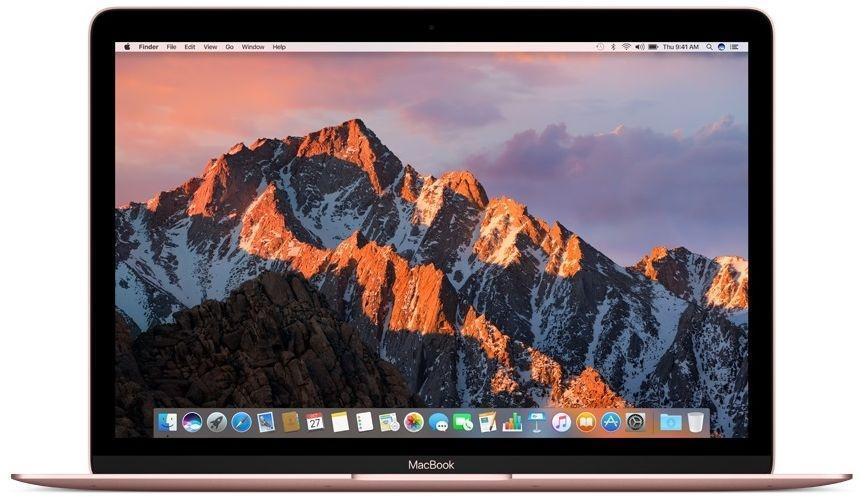 Apple MacBook 12 Rose Gold (MNYM2)MacBook <br>Ноутбук Apple MacBook Mid 2017 (Intel Core m3 1200 MHz/12/2304x1440/8Gb/256Gb SSD/DVD нет/Intel HD Graphics 615/Wi-Fi/Bluetooth/MacOS X)<br>