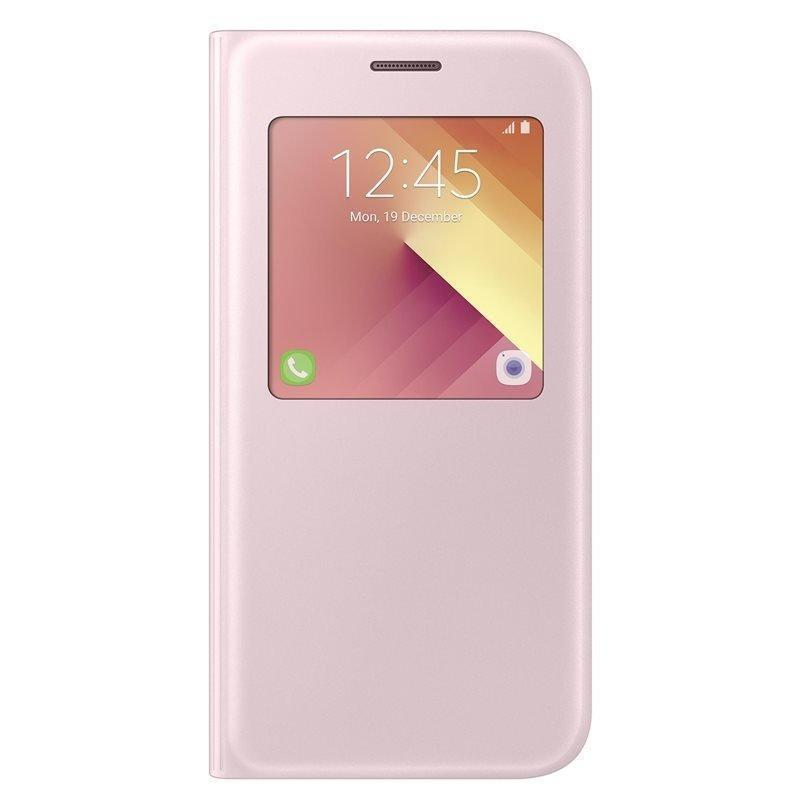 Чехол-книжка Samsung S-View Standing Cover для Galaxy A7 (2017) полиуретан, поликарбонат розовыйдля Samsung<br>Чехол-книжка Samsung S-View Standing Cover для Galaxy A7 (2017) полиуретан, поликарбонат розовый<br>
