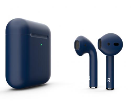 Беспроводная гарнитура Apple AirPods 2 (Matte Flesh Blue)