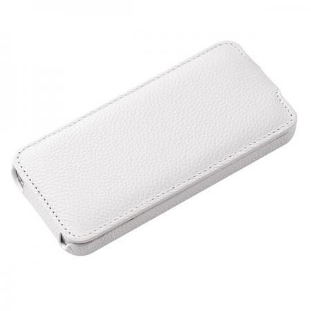 Чехол-книжка Vetti Craft SlimFlip для Apple iPhone SE/5S/5 натуральная кожа белый