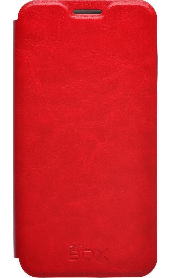 Купить Чехол-книжка skinBOX Lux для Meizu M2 mini искусственная кожа (красный)