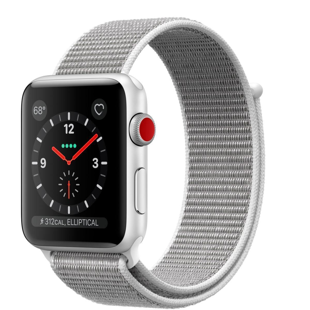 Apple Watch Series 3 (GPS) 42mm Silver Aluminum Case with Seashell Sport Loop MQK52Apple Watch Series 3<br>Apple Watch Series 3 (GPS) 42mm Silver Aluminum Case with Seashell Sport Loop MQK52<br>