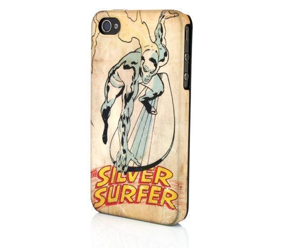 Чехол-накладка Marvel Silver Surfer Nosegrab для Apple iPhone 4/4S пластикдля iPhone 4/4S<br>Чехол-накладка Marvel Silver Surfer Nosegrab для Apple iPhone 4/4S пластик<br>
