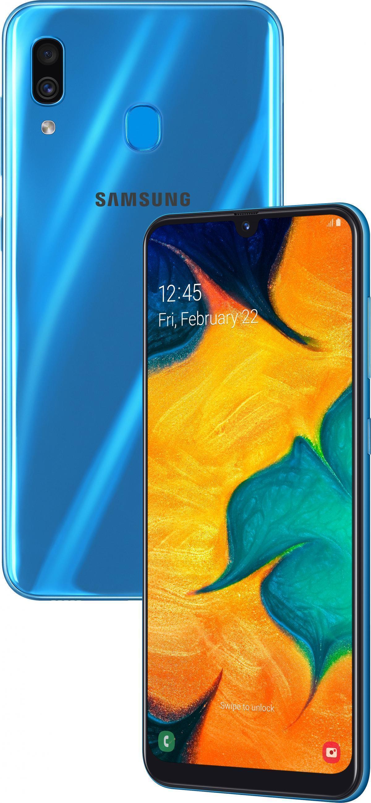 Samsung Galaxy A30 (2019) (SM-A305FN/DS) 32Gb Blue (SM-A305FZBUSER)