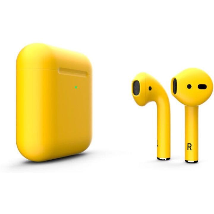 Беспроводная гарнитура Apple AirPods 2 Wireless (Matte Yellow)