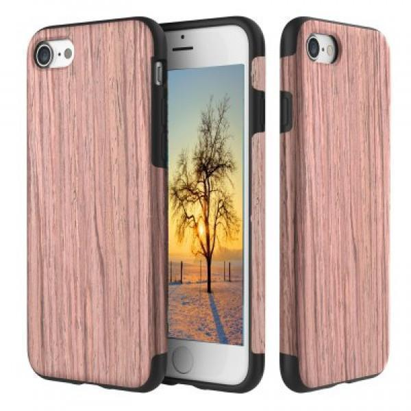 Купить со скидкой Чехол-накладка Rock Origin Series Wood для Apple iPhone 7 Plus/8 Plus резина под дерево Sandalwood