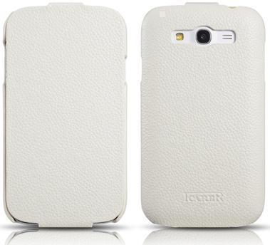 Чехол-книжка iCarer Flip Case Series для Samsung Galaxy Grand (GT-I9082) натуральная кожа белый