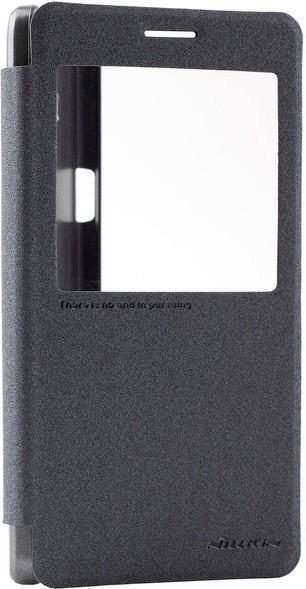 Чехол-книжка Nillkin Sparkle Series для Samsung Galaxy A7 (SM-A700) пластик-полиуретан чёрный