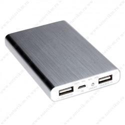 Универсальный внешний аккумулятор Remax Vanguard PowerBox 6000 mAh 1 А/ 2.1 А, USBx2 металл SilverУниверсальные внешние аккумуляторы<br>Универсальный внешний аккумулятор Remax Vanguard PowerBox 6000 mAh 1 А/ 2.1 А, USBx2 металл Silver<br>