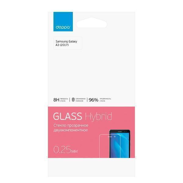 Защитное стекло Deppa Hybrid для Samsung Galaxy A3 (2017) SM-A320 прозрачное антибликовоедля Samsung<br>Защитное стекло Deppa Hybrid для Samsung Galaxy A3 (2017) SM-A320 прозрачное антибликовое<br>