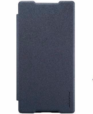 Чехол-книжка Nillkin Sparkle Series для Sony Xperia Z5 / Z5 Dual пластик-полиуретан (черный)для Sony<br>Чехол-книжка Nillkin Sparkle Series для Sony Xperia Z5 / Z5 Dual пластик-полиуретан (черный)<br>