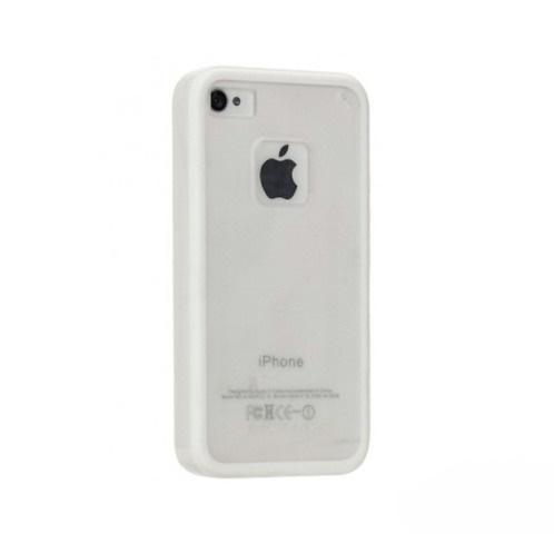 Чехол-накладка Momax iCase Pro для Apple iPhone 4/4S силикон+пластик белыйдля iPhone 4/4S<br>Чехол-накладка Momax iCase Pro для Apple iPhone 4/4S силикон+пластик белый<br>