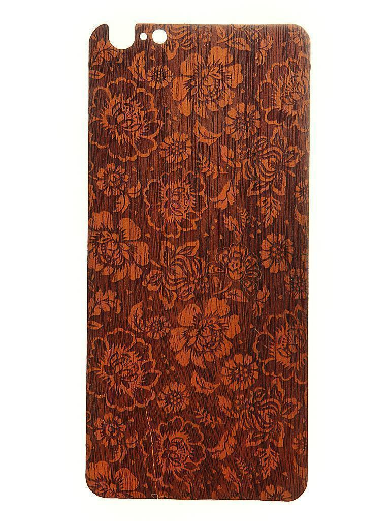 Задняя наклейка Vanitist Flower Pattern для Apple iPhone 6 Plus/6S Plus светло-коричневое дерево