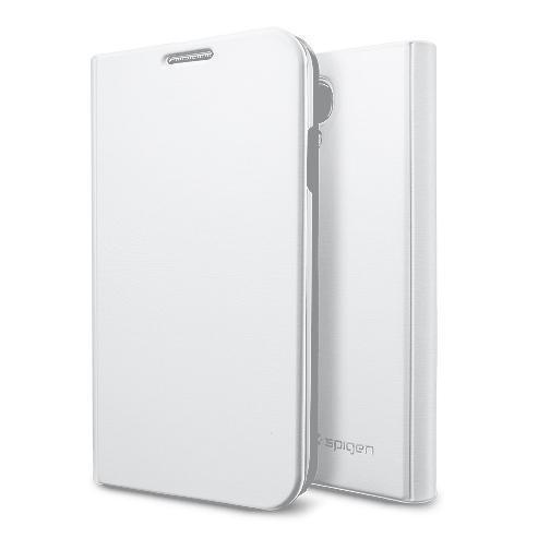 Чехол-книжка Spigen Slim Wallet S SGP10280 для Samsung Galaxy S4 пластик, кожа Белый металликдля Samsung<br>Чехол-книжка Spigen Slim Wallet S SGP10280 для Samsung Galaxy S4 пластик, кожа Белый металлик<br>