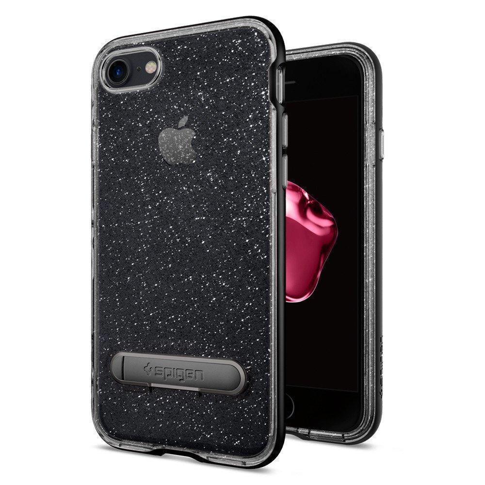 Купить Чехол-накладка Spigen Neo Hybrid Crystal Glitter для Apple iPhone 7/8 тёмный кварц (SGP 042CS21211)