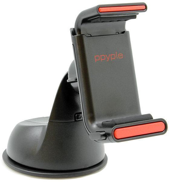 """Держатель автомобильный Ppyple Dash-Q5 на стекло или торпеду для телефона 3.5""""-6"""" дюймов черный"""