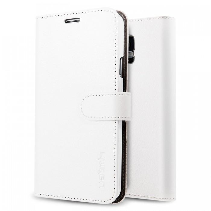 Чехол-книжка Spigen Wallet S SGP10820 для Samsung Galaxy S5 натуральная кожа, пластик Белыйдля Samsung<br>Чехол-книжка Spigen Wallet S SGP10820 для Samsung Galaxy S5 натуральная кожа, пластик Белый<br>