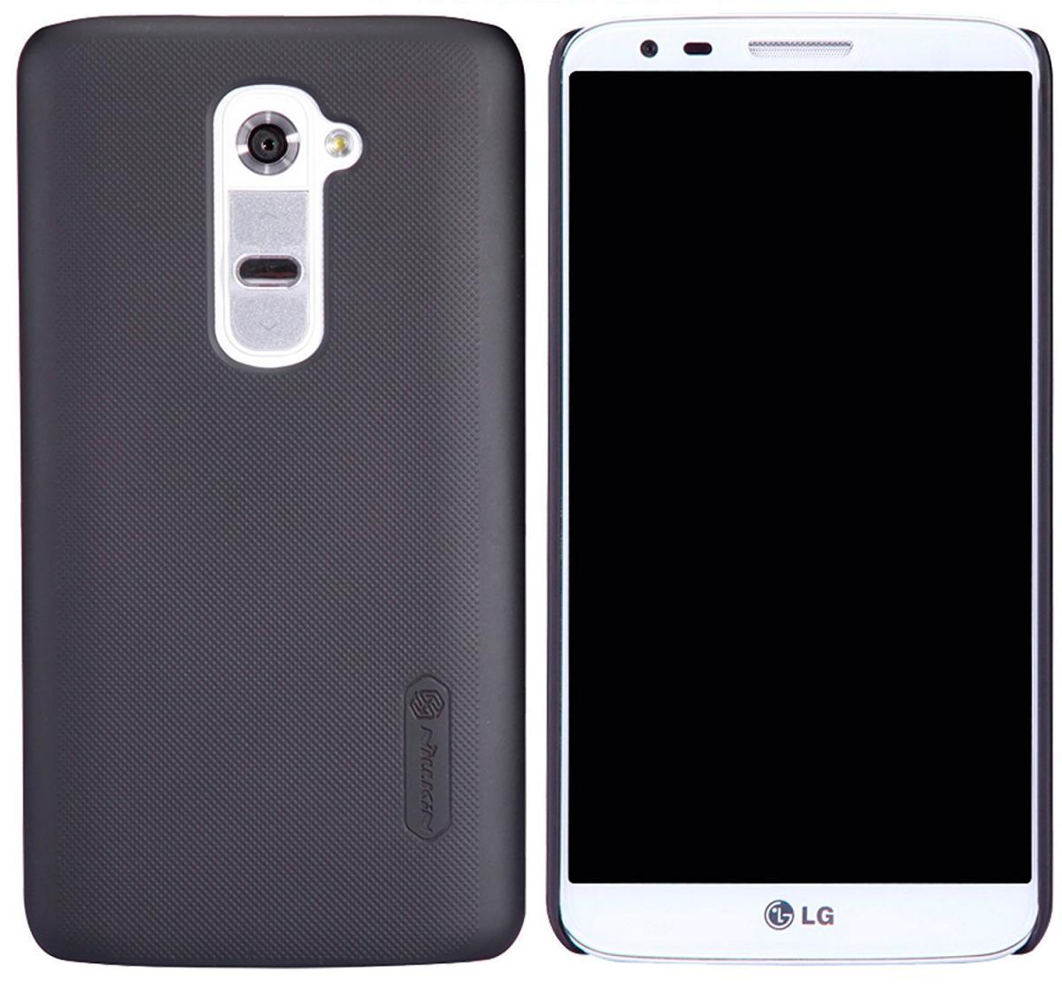 Чехол-накладка Nillkin Frosted Shield для LG G2 D802 (пластиковый) Blackдля LG<br>Чехол-накладка Nillkin Frosted Shield для LG G2 D802 (пластиковый) Black<br>