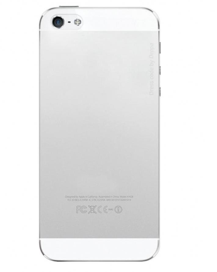 Купить Чехол-накладка Deppa Sky Case 0.3mm для Apple iPhone SE/5S/5 пластиковый (прозрачно-белый)