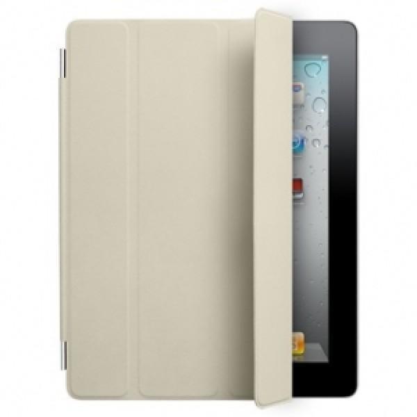 Чехол-книжка Apple Smart Cover для Apple iPad 2/3/4 (натуральная кожа с подставкой) кремовый