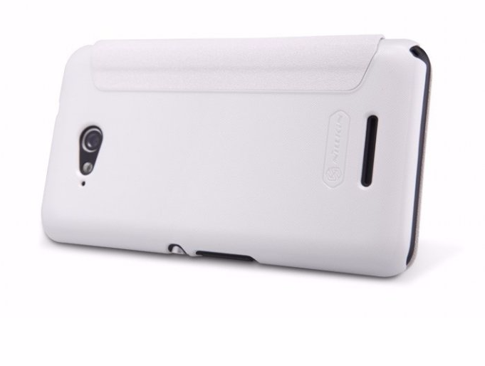 Чехол-книжка Nillkin Sparkle Series для Sony Xperia E4g / E4g Dual пластик-полиуретан белыйдля Sony<br>Чехол-книжка Nillkin Sparkle Series для Sony Xperia E4g / E4g Dual пластик-полиуретан белый<br>