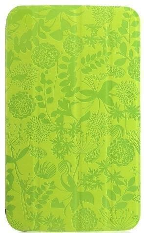Чехол-книжка Gissar Flora для Samsung Galaxy Tab 3 7.0 (SM-T210/SM-T211) натуральная кожа зеленый