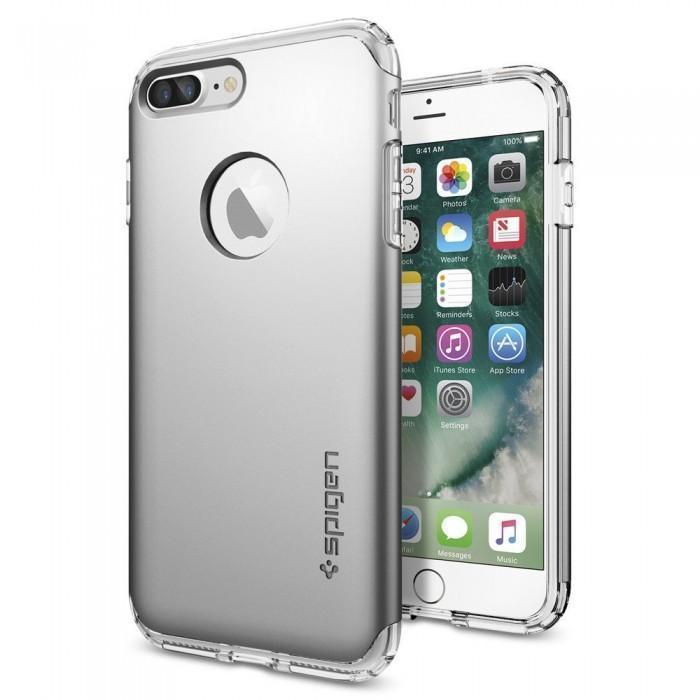 Чехол-накладка Spigen Hybrid Armor для Apple iPhone 7 Plus/8 Plus Satin Silver (SGP 043CS20698)для iPhone 7 Plus/8 Plus<br>Чехол-накладка Spigen Hybrid Armor для Apple iPhone 7 Plus/8 Plus Satin Silver (SGP 043CS20698)<br>