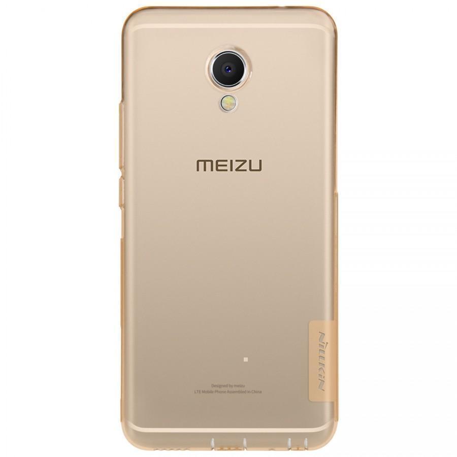 Чехол-накладка Nillkin Nature 0.6mm для Meizu MX6 силиконовый (прозрачно-золотой) фото