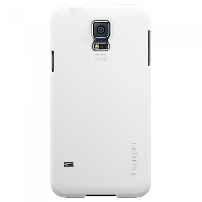 Чехол-накладка Spigen SGP10732 Ultra Fit для Samsung Galaxy S5 Smooth Whiteдля Samsung<br>Чехол-накладка Spigen SGP10732 Ultra Fit для Samsung Galaxy S5 Smooth White<br>