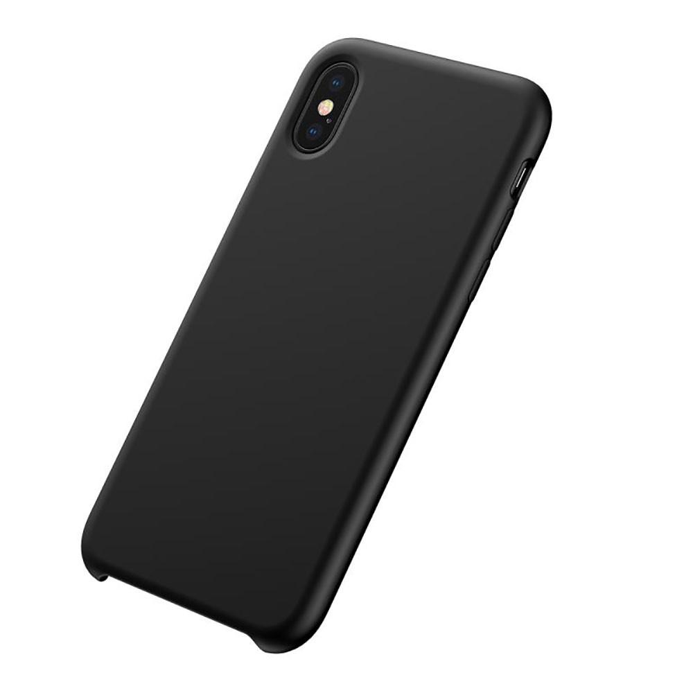 Купить Чехол-накладка Baseus Original LSR Case для Apple iPhone Xs Max силиконовый Soft-Touch (черный)