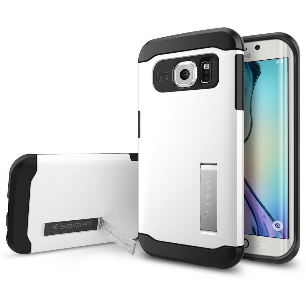 Купить Чехол-накладка Spigen Slim Armor SGP11424 для Samsung Galaxy S6 Edge (Shimmery White)