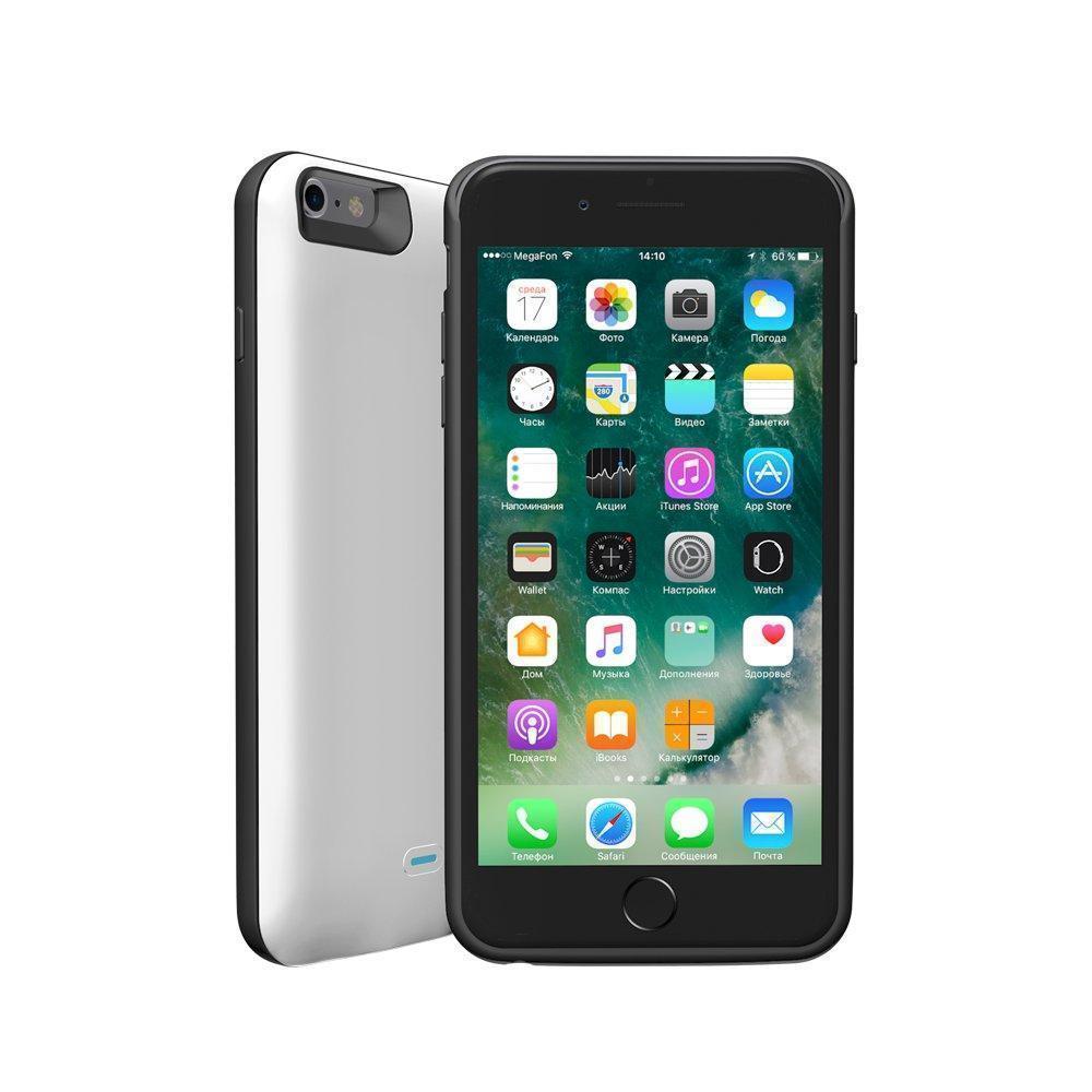 Чехол-аккумулятор Deppa NRG Case 3800mAh для iPhone 6 Plus/6S Plus Lightning белый (33526)