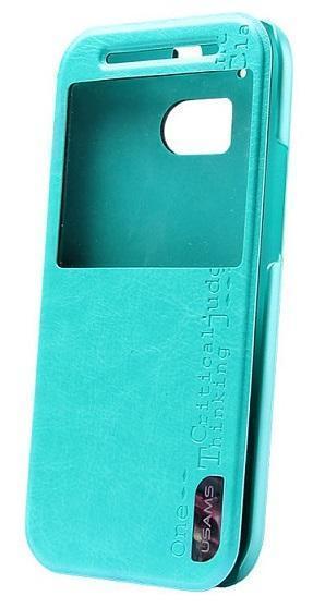 Купить Чехол-книжка Usams Merry Series для HTC One M8 искусственная кожа (бирюзовый)