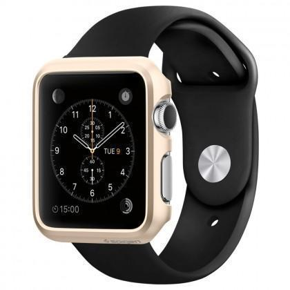 Чехол-накладка Spigen SGP11501 Thin Fit для Apple Watch 42mm / Watch Sport 42mm Champagne Gold